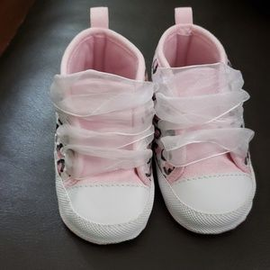 Other - Pink and white leopard baby high tops